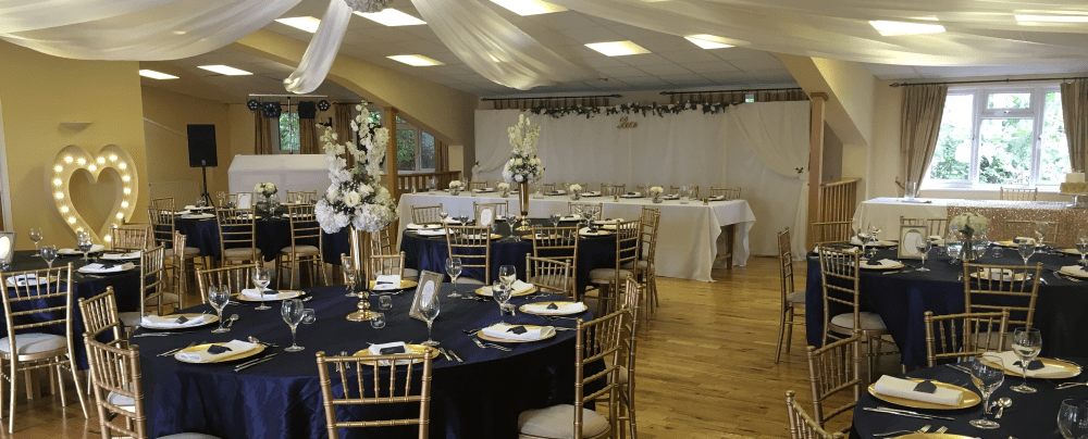 Brett Vale Golf Club and Wedding Venue - Dining tables