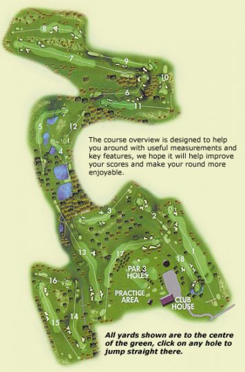 Brett Vale Golf Course overhead