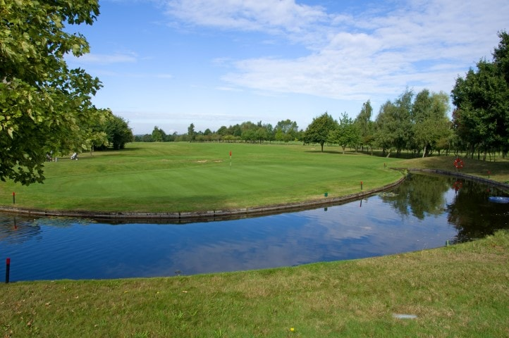 Course Hole 18, Brett Vale Golf course Suffolk