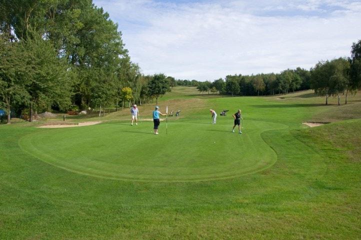 Course Hole 3, Brett Vale Golf course Suffolk