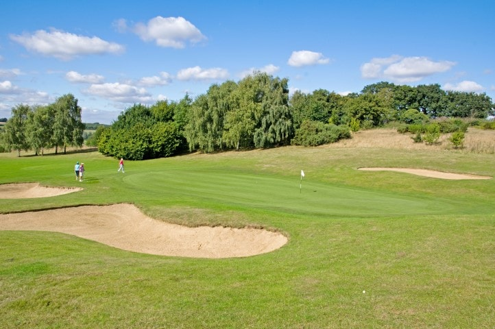 Course Hole 8, Brett Vale Golf course Suffolk